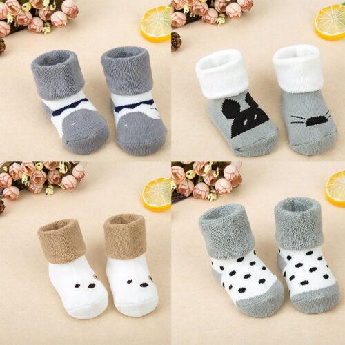 Winter Velvet Thick Baby Socks Dimensional Fashion Cartoon Socks Kids Sleep Sock