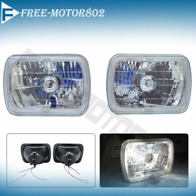 1990 Pontiac Firebird Formula - 7x6 Inch H4 H6014 H6052 H6054 Sealed Beam Halo Diamond Headlights Lamps