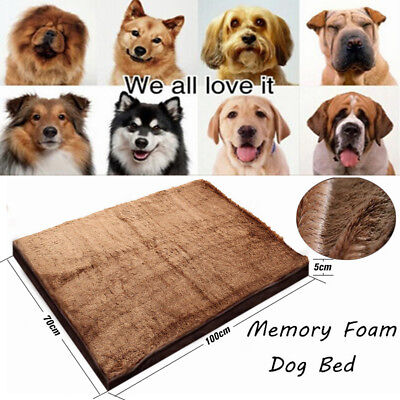 Memory Foam Dog Pet Bed Extra Large PAW MAT Removable Cover 39*28*2 Inches US