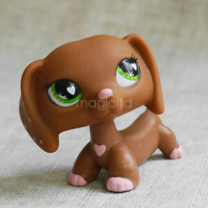 Cute Littlest Pet Shop LPS Collection Animal Toy #556 Heart Dachshund Dog