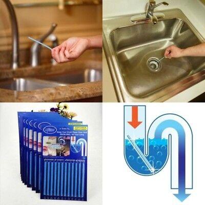 12 Pcs/PACK Rod Sani Drain Cleaner Sticks Bathtub Deodorizer Odor Remover US