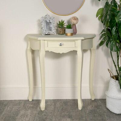 Französisch Esszimmer-möbel (Creme Gemalt Halbmond Konsole Französisch Shabby Chic Flur Möbel)