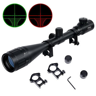 Optics Hunting Rifle Scope 6-24x50 AOE Red Green Illuminated Gun scopes Mounts