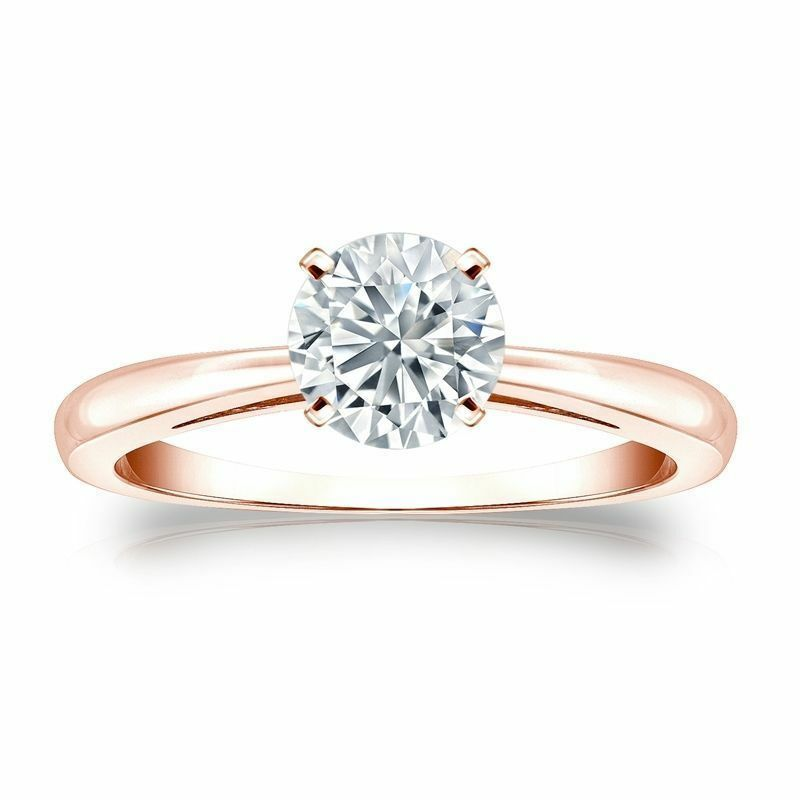 Classy 0.30 Cts F/VS1 GIA Certified Natural Diamond Anniversary Ring In 14K Gold