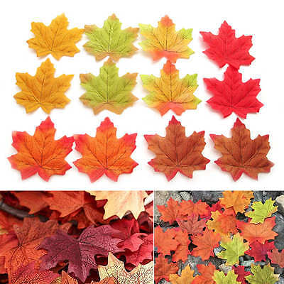 300pcs Autumn Fall Silk Leaves Artifical Foliage Maple Wedding Decoration Mixed - Fall Leaves Decorations
