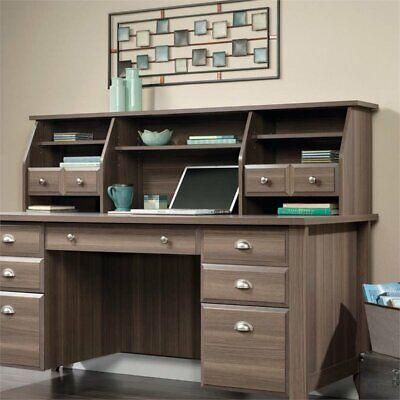 Sauder Shoal Creek Executive Desk with Hutch in Diamond