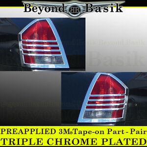 2005 2006 2007 Chrysler 300 Chrome Taillight Tail Light Bezels Covers Rear Trim