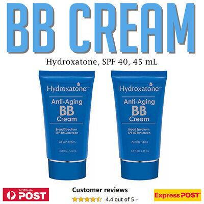2 x Hydroxatone Anti Ageing BB Cream 45ml  SPF 40 Broad Spectrum Sunscreen AU