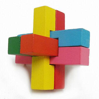 Lernspiel Puzzle 3D Puzzle Holz Gehirn Teaser Intelligentes Spielzeug Kind Er 2I ()