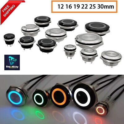 Short Mini Push Button Switch Electric Power Led Light Momentary Pressure Switch