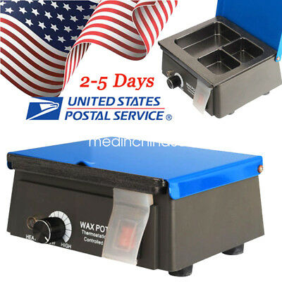 Usaanalog Wax Heater Pot 3-well Digital Waxer Melting Dipping For Dental Lab