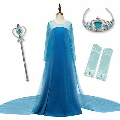 Girls Dress Elsa Princess Cosplay Party Costume Baby Girls Children's Clothes