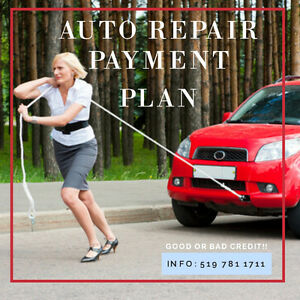 Auto Repair Payment Plan! No credit check.