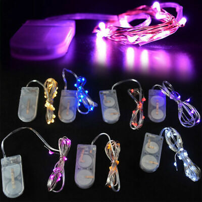 Ultra Small Weight 2m 20 LED String Light 6V Battery Powered Wire Mini Fairy ()