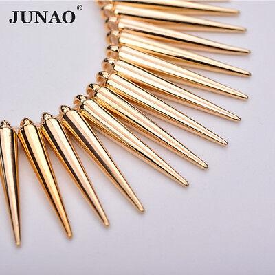 100pc 5*35mm Sewing Gold Silver Plastic Rivet Cone Rhinestones Big Spikes Studs (Plastic Spike)