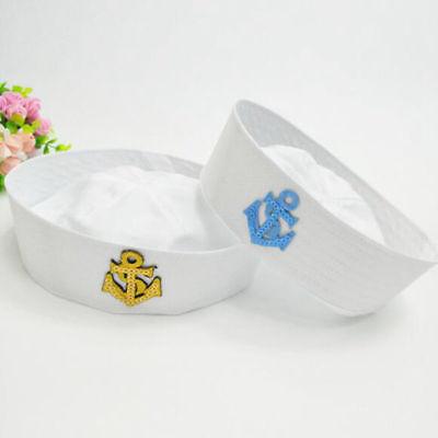weiße Honourable Marine Hut Sailor Seemann Cap Kostüm für Kinder und Erwachsene (Sailor Kostüme Für Kinder)