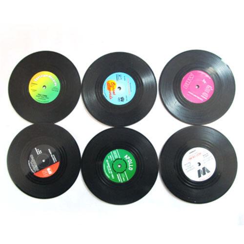 6PCS NIce Vinyl Coaster Groovy Record Cup ...