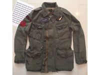 RALPH LAUREN & CO MEN'S GREEN 'MILITARY COMBAT JACKET' - XXL ONO