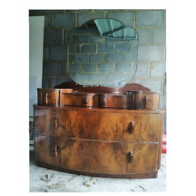 VINTAGE 1930'S/1940's ART DECO KAYANESS DRESSING TABLE WITH MIRROR