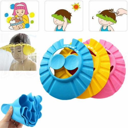 Baby Kids Toddler Bath Shower Shampoo Cap Hat Wash Adjustabl