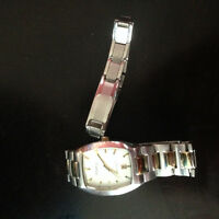 Fossil watch and silver bracelet