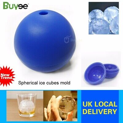Whiskey Silicon Ice Cube Round Ball Maker Mold 3D Sphere Mould Tray Party Bar UK