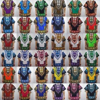 Dashiki Caftan African Mens Women Shirt Tribal Rasta Hippie Blouse Tops One Size - Hippie Dashiki