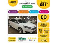 FORD FOCUS WHITE 1.5 TDCI ZETEC EDITION P/S HATCHBACK DIESEL FROM £51 PER WEEK!