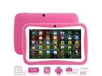 "7"" ANDROID EDUCATIONAL TABLET PC 4.4 FOR CHILDREN KIDS, 8GB, DUAL CAM, BLUETOOTH, WIFI. NEW ONE"