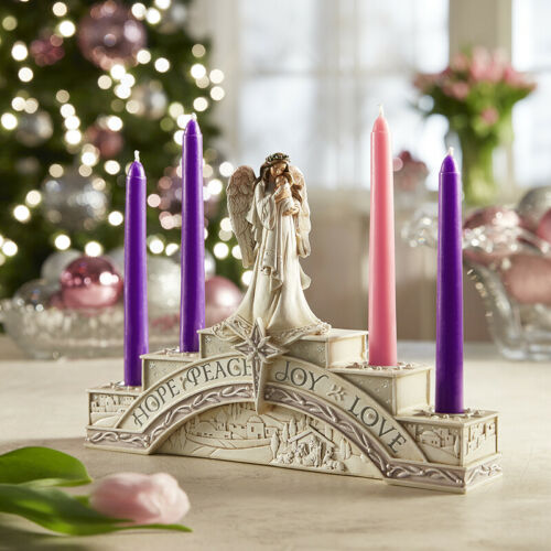 Resin Angel of Christmas Advent Wreath