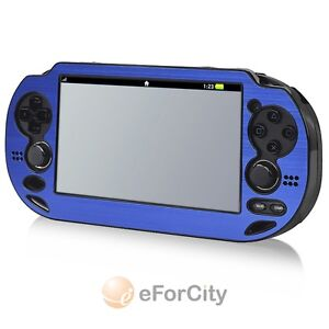 Blue Metal Aluminum Plastic Hard Protective Case Cover For Sony PS Vita PSV