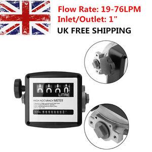 4 digital Diesel Fuel Oil Flow Meter Counter 3.5 bar High Accuracy 1% 50 psi NEW