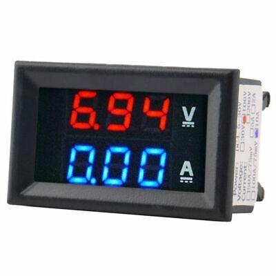 10xdigital Voltage Meter Dc100v 10a Voltmeter Ammeter Bluered Led Amp Dual