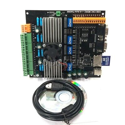 4 Axis Stepper Motor Controller Driver Board 3.5a24v Sd Card Mpg Usb Cnc Mdk2