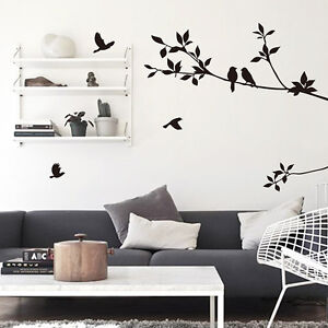 Room Art Home Decor Wall Sticker Removeable Decoration Mural Decal Tree Bird