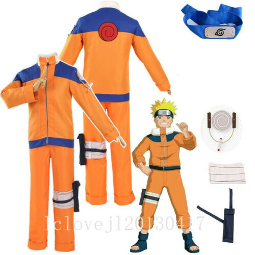 Cosplay Anime Uzumaki Shippuden Hokage Halloween Costume Uniform Full Set