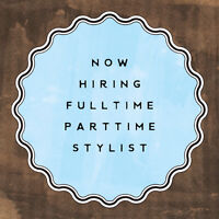 Now hiring! Full time/part time
