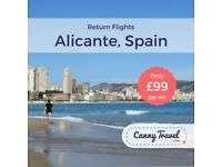 **48% OFF THE AIRLINE'S PRICE** Cancellation! 4 Return FLIGHTS TO ALICANTE from Bristol