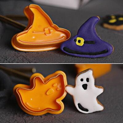 eko Hexe Geist Kürbis DIY Kuchen Gebäck Maker Fondant Neu PD (Halloween Torten Kuchen)