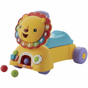 Fisher-Price 3-in-1 Sit, Stride & Ride Lion, New