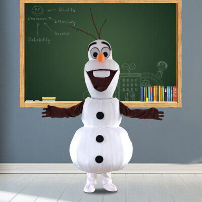 Party Clothing Snowman Olaf Mascot Costume Adult Cartoon Character Unisex Dress