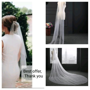 6 Wedding veil's (0.8m or 2m or 3m) white or ivory