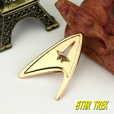Star Trek Logo Metal Pin brooch Gold color Collectible gift decor cosplay