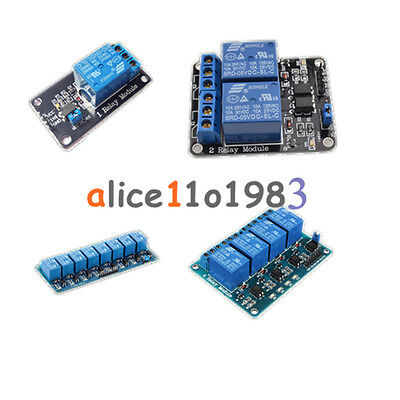 5v 12468 Channel Relay Board Module Optocoupler Led For Arduino Pic Arm Avrc