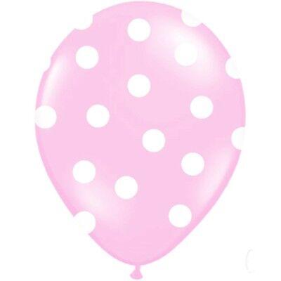 ts rosa 30 cm 10 Stück - Ballons Taufe Kindergeburtstag (Polka Dots Luftballons)