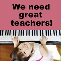 We need great piano teachers! (for in-home lessons)