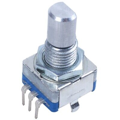 2x20-point Shaft Detents Encoder And 360 Degree Rotary With Push Button Blue