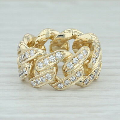 3.50ctw Diamond Cocktail Ring 10k Yellow Gold Size 6.56.75 Band Eternity