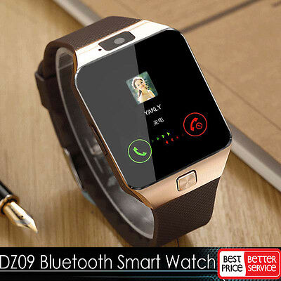 Gold DZ09 Bluetooth Fashionable Watch GSM SIM for iPhone Samsung lg Android Phone Friend