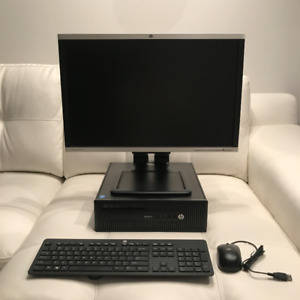 """HP i5 Desktop + 24"""" Monitor"""
